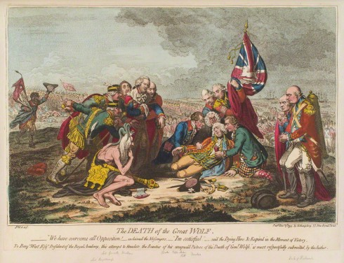NPG D12551; 'The death of the Great Wolf' by James Gillray, published by  Hannah Humphrey