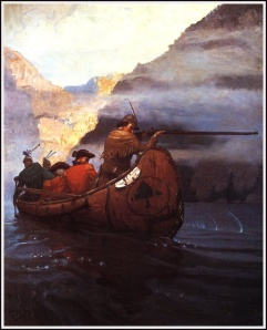 "N.C. Wyeth, ""Last of the Mohicans"" illustration, 1917."