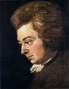 Portrait of Mozart by brother-in-law Joseph Lange around 1783, said by Constanze to be the best likeness of her husband.