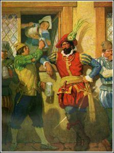 N.C. Wyeth illustration for Westward Ho!